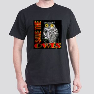 Save The Owls Black T-Shirt