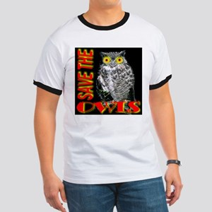 Save The Owls Ringer T
