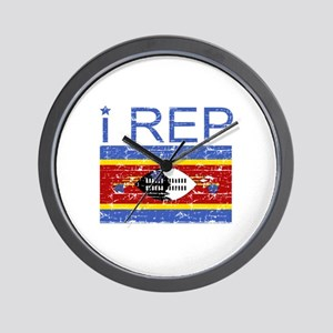 I Rep Swaziland Wall Clock