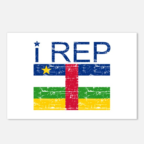 I Rep Central African Postcards (Package of 8)
