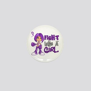 Licensed Fight Like a Girl 42.8 Epilep Mini Button