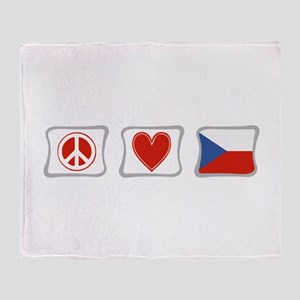 Peace, Love & Czech Republic Throw Blanket