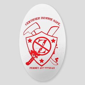 Zombie Safe Sticker (Oval)