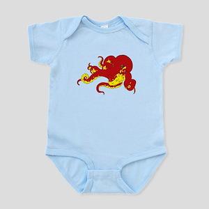 Red Octopus  Infant Bodysuit