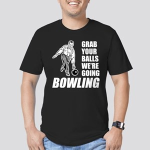Grab Your Balls Bowling Men's Fitted T-Shirt (dark
