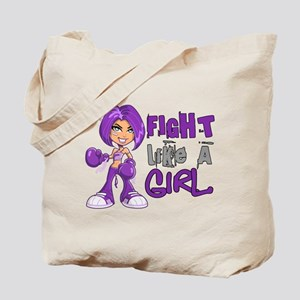 Licensed Fight Like a Girl 42.8 Cystic Fi Tote Bag