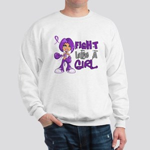 Licensed Fight Like a Girl 42.8 Crohn's Sweatshirt