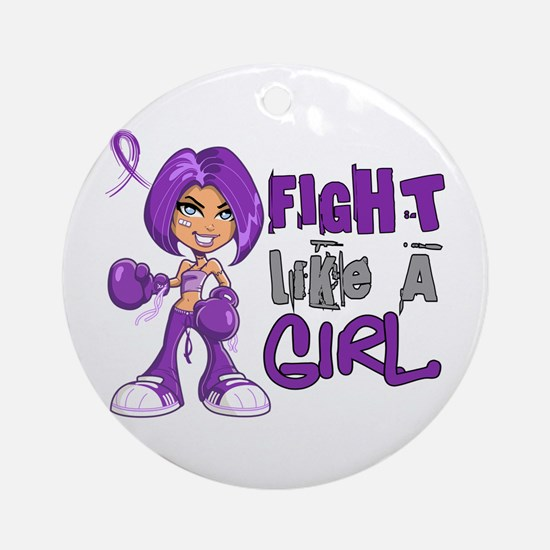 Licensed Fight Like a Girl 42.8 C Ornament (Round)