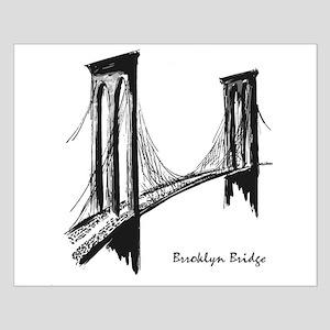 Brooklyn Bridge (Sketch) Small Poster
