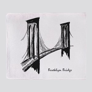 Brooklyn Bridge (Sketch) Throw Blanket