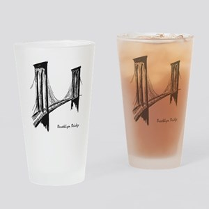 Brooklyn Bridge (Sketch) Drinking Glass