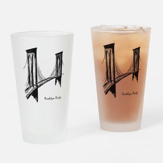 Brooklyn Bridge (Sketch) Drinking Glass