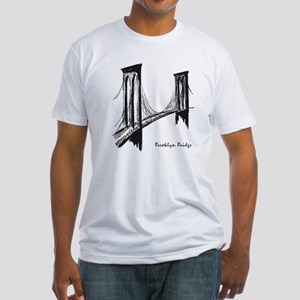 Brooklyn Bridge (Sketch) Fitted T-Shirt