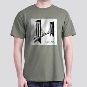 Brooklyn Bridge (Sketch) Dark T-Shirt