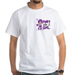 Licensed Fight Like a Girl 42.8 Chia White T-Shirt