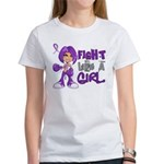 Licensed Fight Like a Girl 42.8 Ch Women's T-Shirt