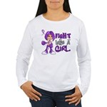 Licensed Fight Like a Women's Long Sleeve T-Shirt
