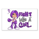 Licensed Fight Like a Girl 42. Sticker (Rectangle)