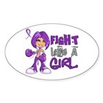 Licensed Fight Like a Girl 42 Sticker (Oval 10 pk)