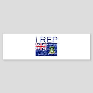 I Rep British Virn Island Sticker (Bumper)