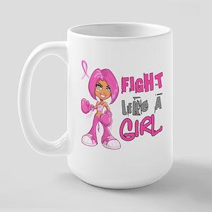 Licensed Fight Like a Girl 42.8 Large Mug