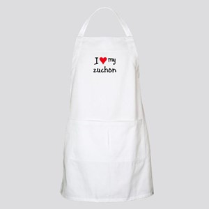 I LOVE MY Zuchon Apron