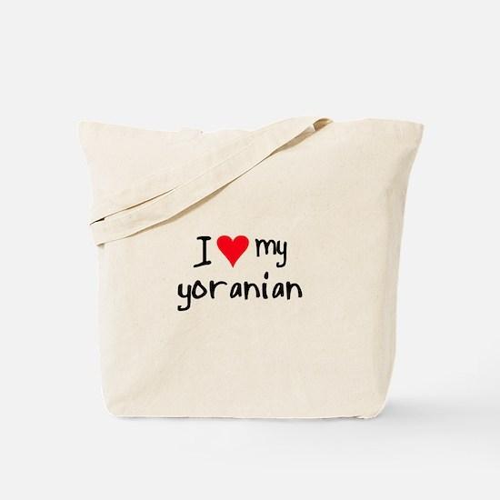 I LOVE MY Yoranian Tote Bag