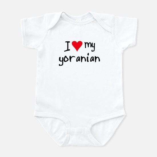 I LOVE MY Yoranian Infant Bodysuit