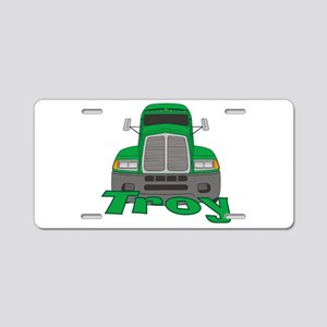 Trucker Troy Aluminum License Plate