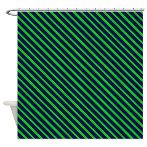 Blue And Green Nautical Shower Curtains