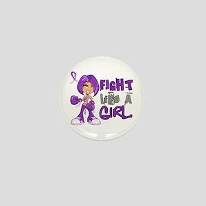 Licensed Fight Like a Girl 42.8 Alzhei Mini Button