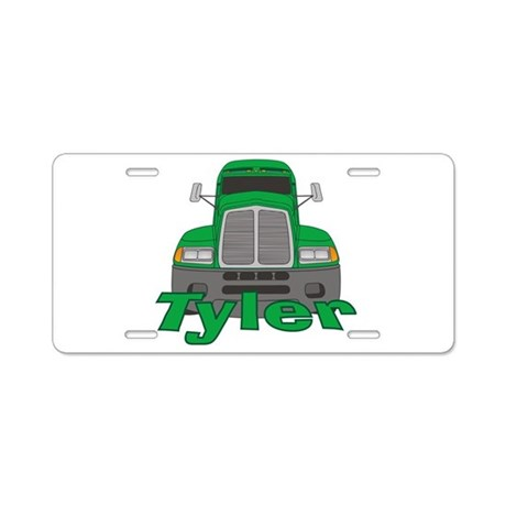 Trucker Tyler Aluminum License Plate