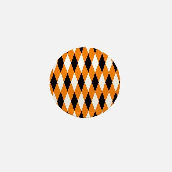 Black Orange White Diamonds.jpg Mini Button