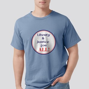Liberty and justice for all Mens Comfort Colors Sh