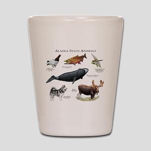 Alaska State Animals Shot Glass