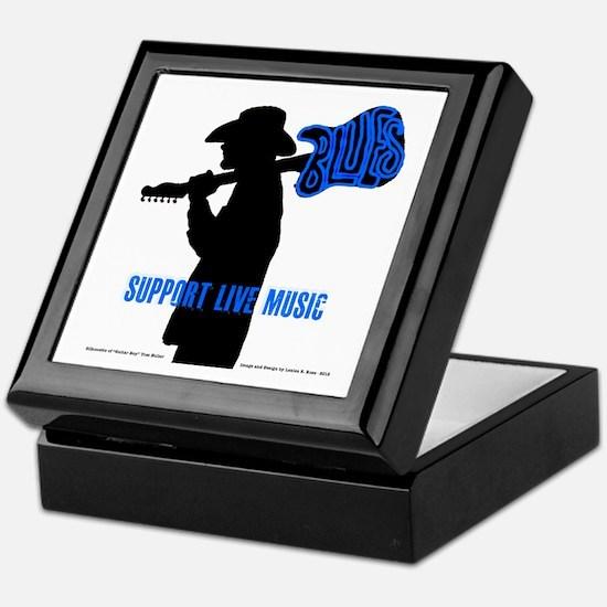 BLUES MAN - SUPPORT LIVE MUSIC Keepsake Box