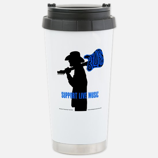 BLUES MAN - SUPPORT LIVE MUSIC Stainless Steel Tra