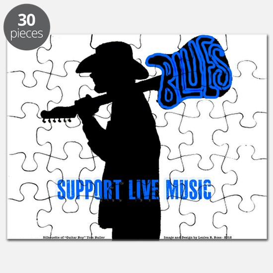 BLUES MAN - SUPPORT LIVE MUSIC Puzzle