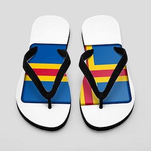Aland Flag Flip Flops