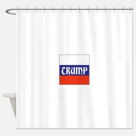 trump will make Russia great, Shower Curtain