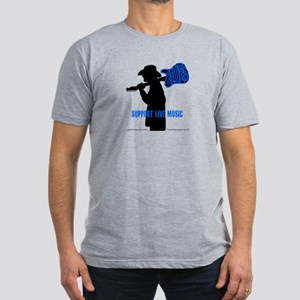 BLUES MAN - SUPPORT LIVE MUSIC Men's Fitted T-Shir