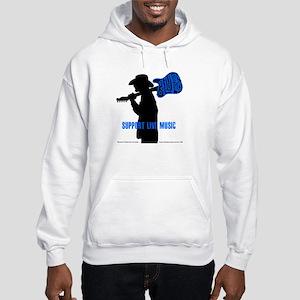 BLUES MAN - SUPPORT LIVE MUSIC Hooded Sweatshirt