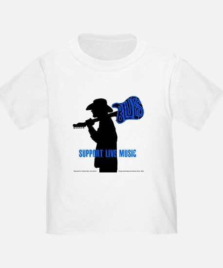 BLUES MAN - SUPPORT LIVE MUSIC T