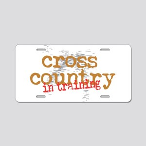 Cross Country Training Aluminum License Plate