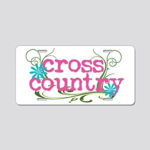Cross Country Pink Aluminum License Plate