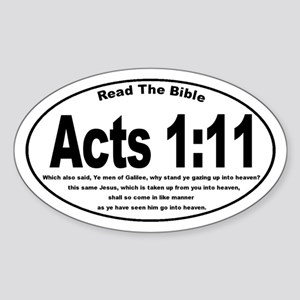 Acts 1:11 Oval Sticker