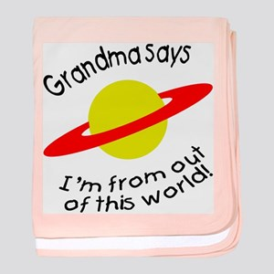Grandma says... world! baby blanket