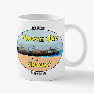 Down the shore boardwalk Mug