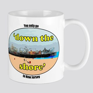 Down the shore boardwalk Mug