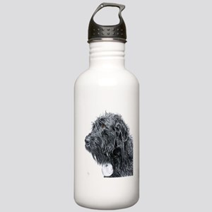 Black Labradoodle 4 Stainless Water Bottle 1.0L